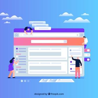 Concetto di design web con design piatto