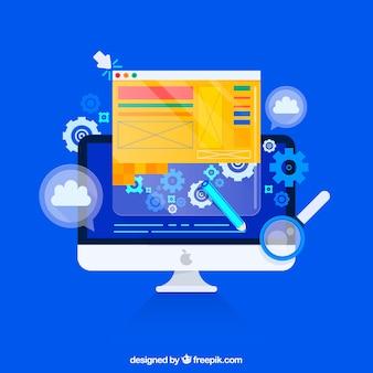 Concetto di design web con stile piatto