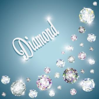Concetto di diamante con disegno dell'icona