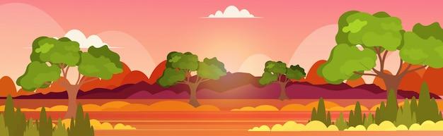 Concetto di disastro ecologia problema intenso arancione fiamme orizzontali