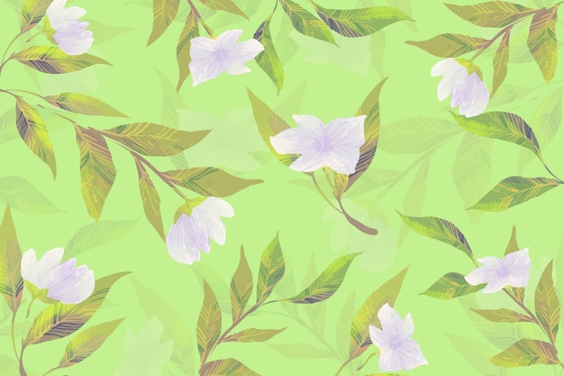 Concetto di disegno con fiori botanici