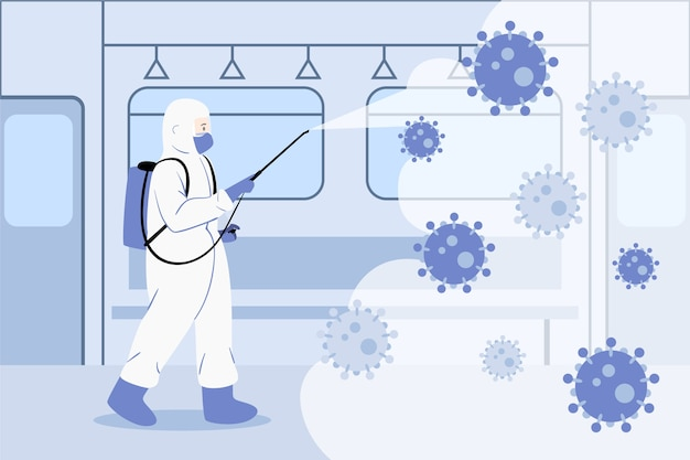 Concetto di disinfezione da virus