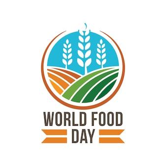 Concetto di distintivo di logo giornata mondiale del cibo