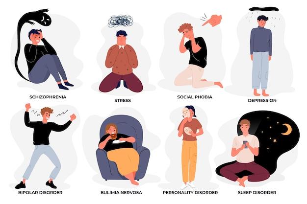 Concetto di diversi disturbi mentali