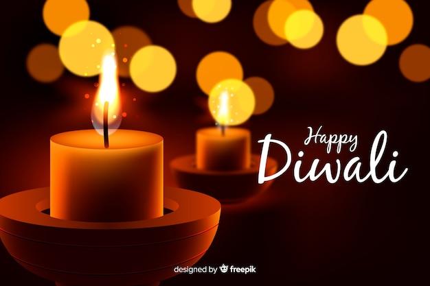 Concetto di diwali con sfondo realistico