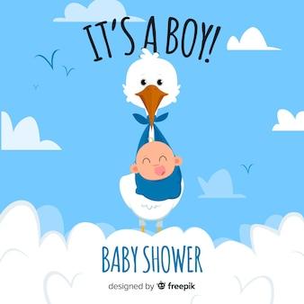 Concetto di doccia bambino carino