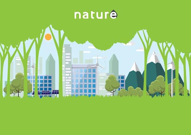 Concetto di eco e natura