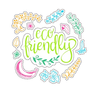 Concetto di ecologia - elemento di design fatto da adesivi