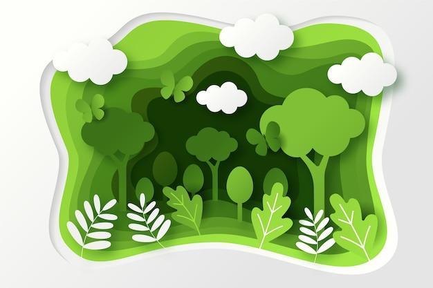 Concetto di ecologia in stile carta