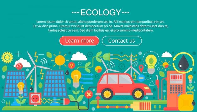 Concetto di ecologia infografica piatta