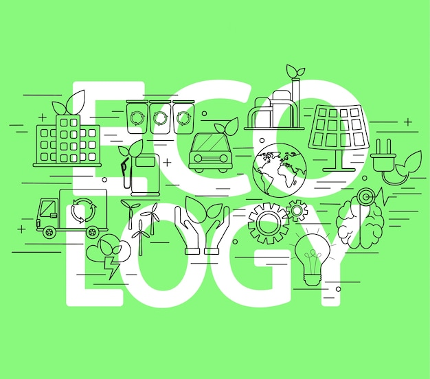 Concetto di ecologia.