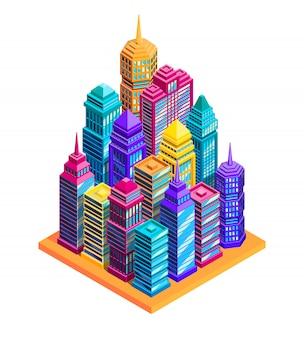 Concetto di edifici della città