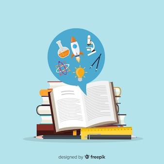 Concetto di educazione adorabile con design piatto
