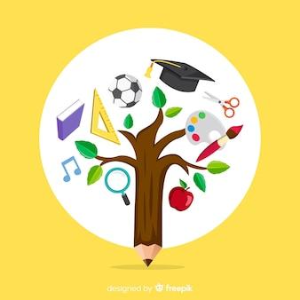 Concetto di educazione colorato con design piatto