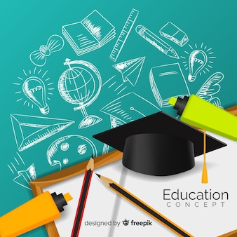 Concetto di educazione elegante con un design realistico