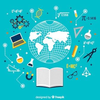 Concetto di educazione moderna con design piatto