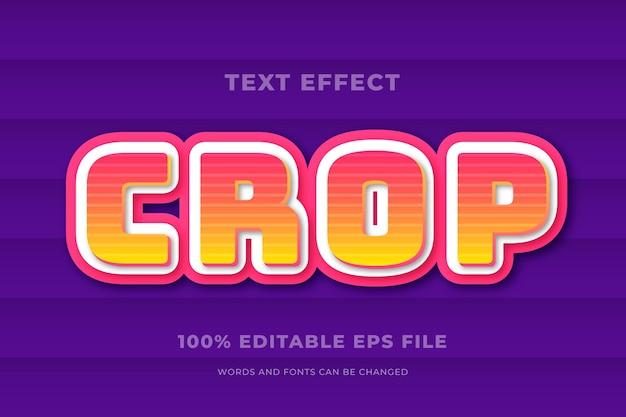 Concetto di effetto del testo