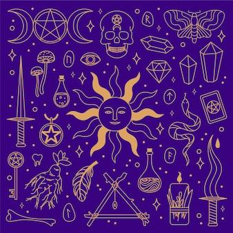Concetto di elementi esoterici