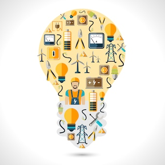 Concetto di elettricità piatta