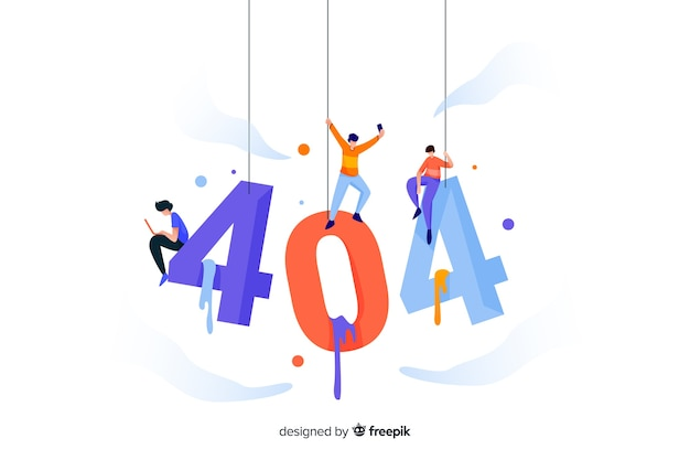 Concetto di errore 404 per la pagina di destinazione