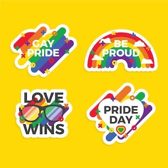 Concetto di etichette di orgoglio