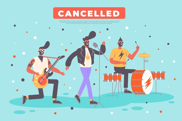 Concetto di eventi musicali annullato