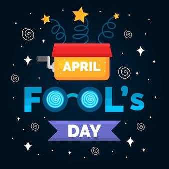 Concetto di evento del giorno dei pesci d'aprile