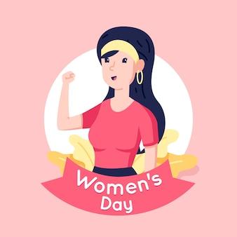Concetto di evento del giorno delle donne design piatto
