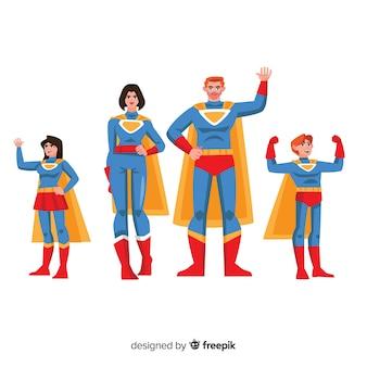 Concetto di famiglia supereroe