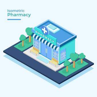Concetto di farmacia isometrica