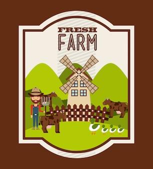 Concetto di fattoria