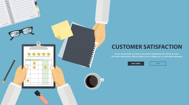Concetto di feedback, messaggi di testimonianze e notifiche