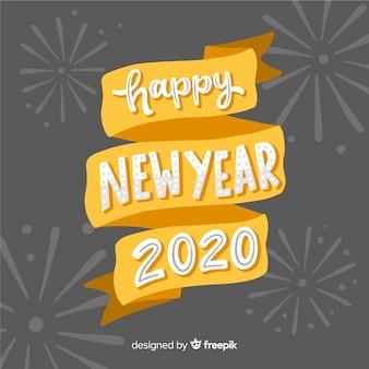 Concetto di felice anno nuovo con scritte