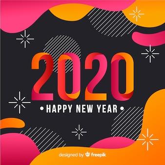 Concetto di felice anno nuovo in design piatto