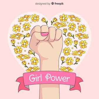 Concetto di femminismo disegnato a mano moderna
