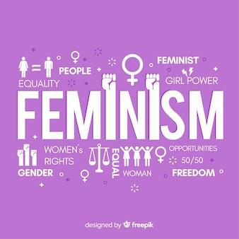 Concetto di femminismo moderno con design piatto