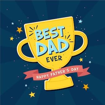 Concetto di festa del papà in design piatto