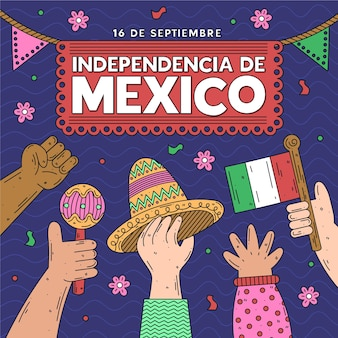 Concetto di festa dell'indipendenza del messico