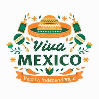 Concetto di festa dell'indipendenza mexic design piatto