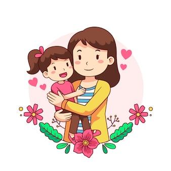 Concetto di festa della mamma disegnato a mano