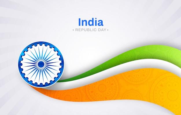 Concetto di festa della repubblica indiana