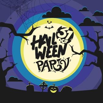 Concetto di festa di halloween felice. il 31 ottobre festa annuale