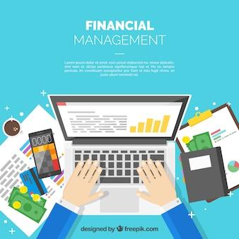 Concetto di finanza professionale con il computer portatile