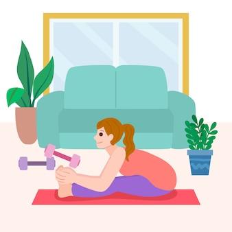 Concetto di fitness a casa