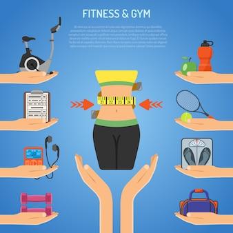 Concetto di fitness e palestra