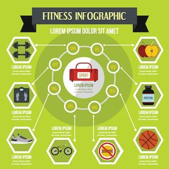 Concetto di fitness infografica