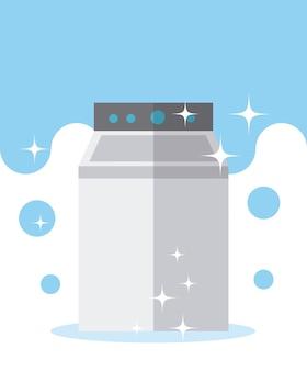 Concetto di fornitura di pulizia della lavatrice