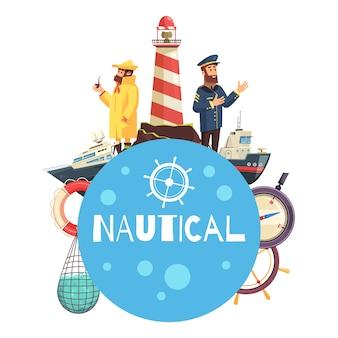Concetto di fumetto nautico