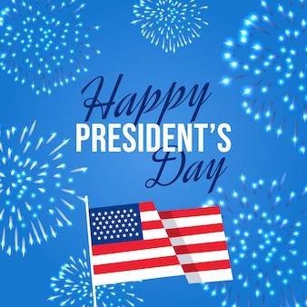 Concetto di fuochi d'artificio per il giorno dei presidenti