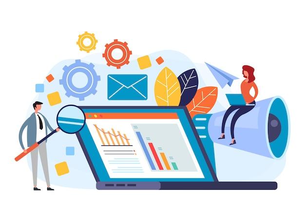 Concetto di gestione digitale pr